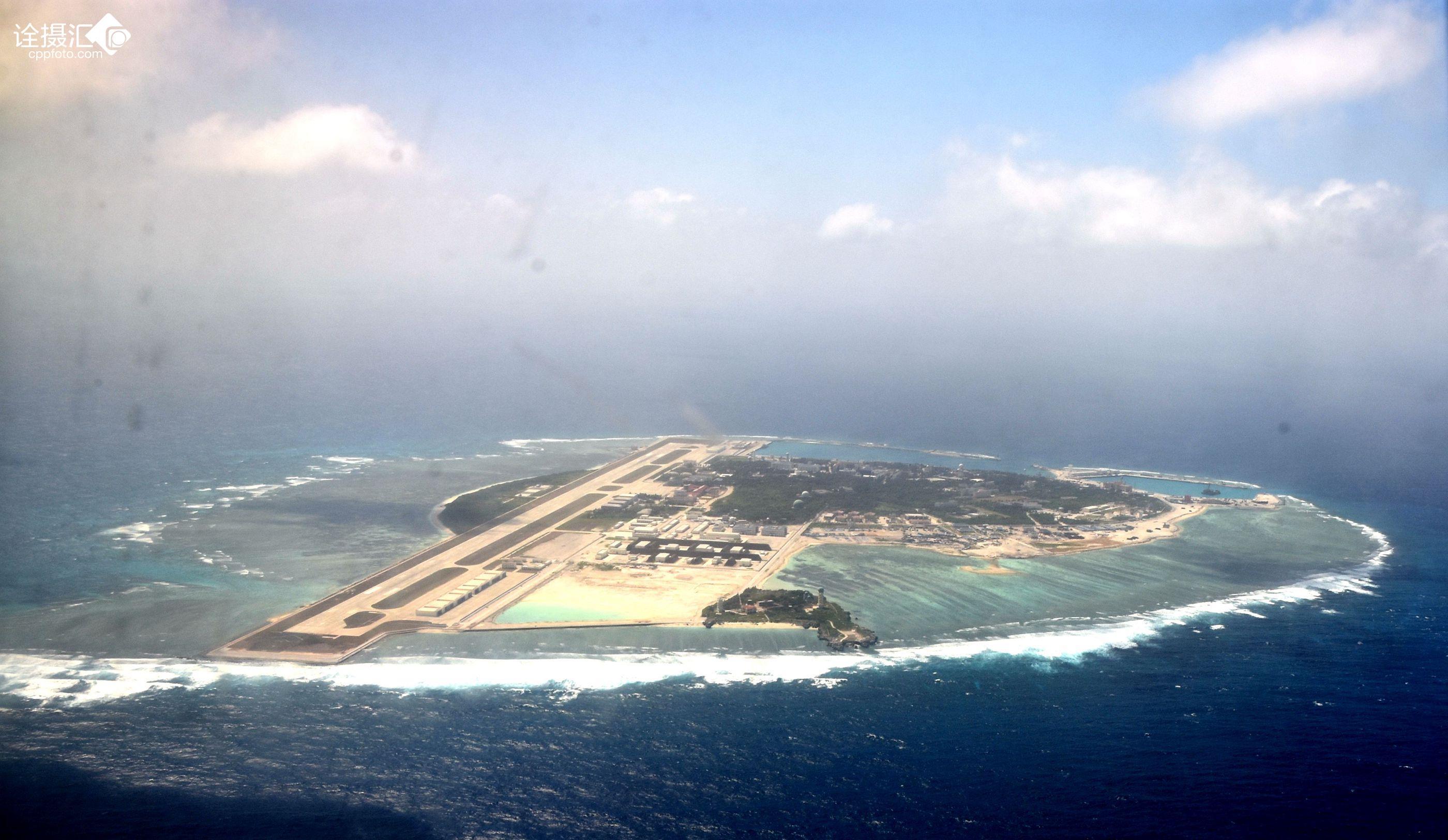 西沙群岛-永兴岛俯瞰