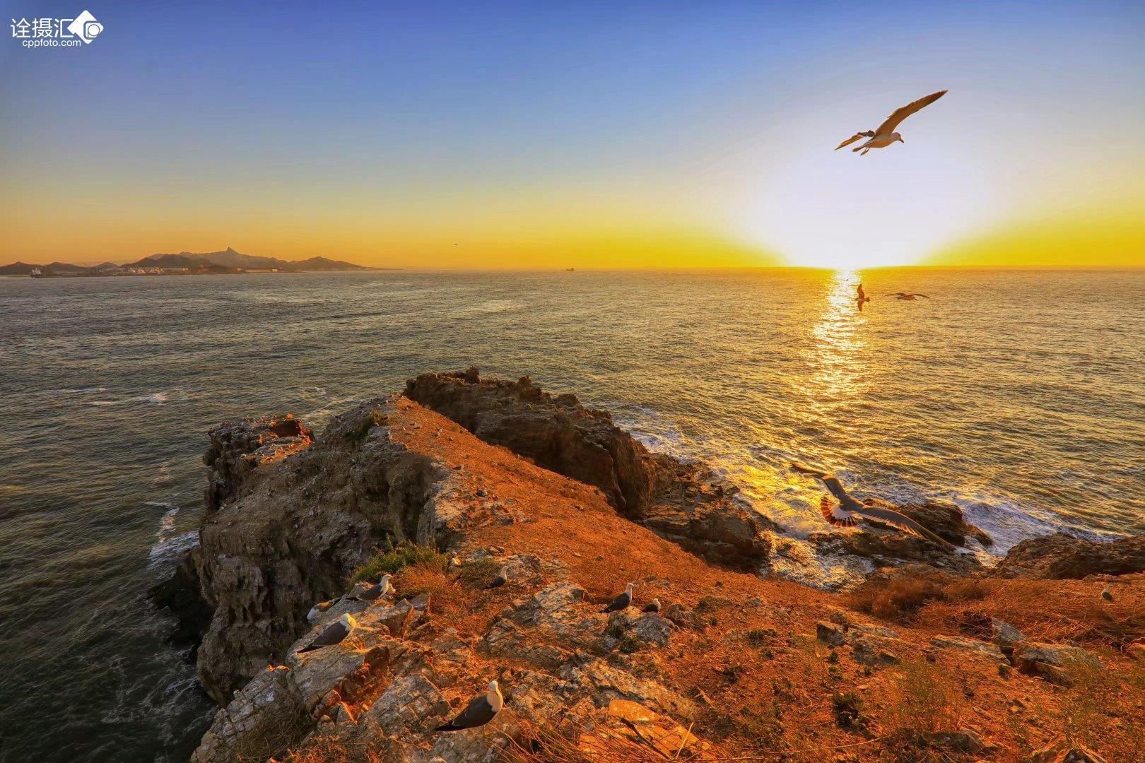山东荣成海驴岛的晨昏