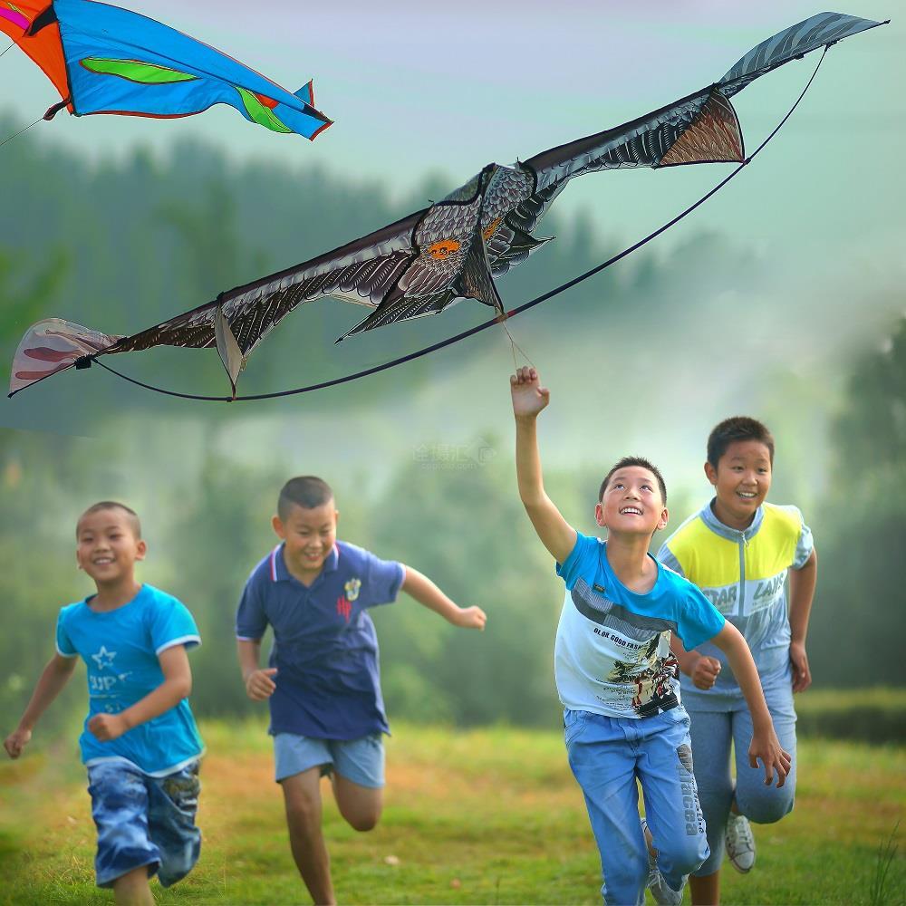 一群小朋友放风筝 —— 薛同成 摄